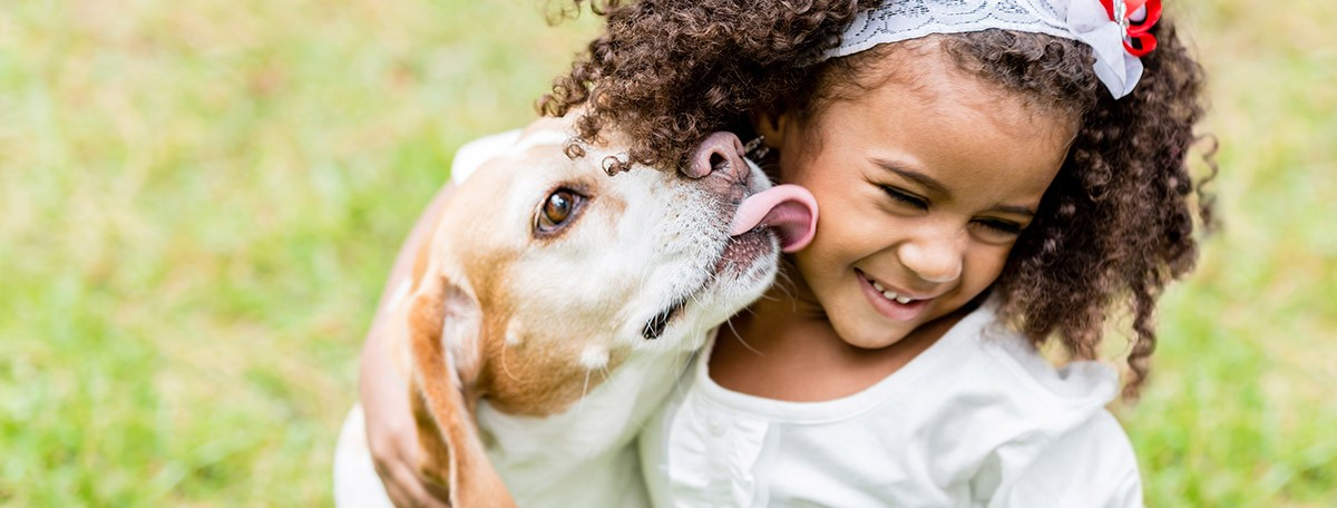 familia con perros